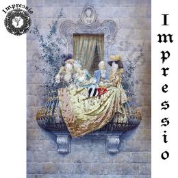 214126. Рисовая декупажная карта Impressio.  25 г/м2