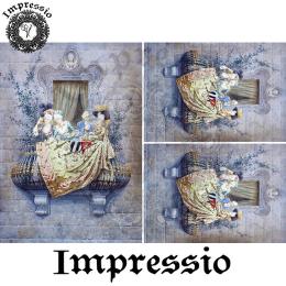 214127. Рисовая декупажная карта Impressio.  25 г/м2