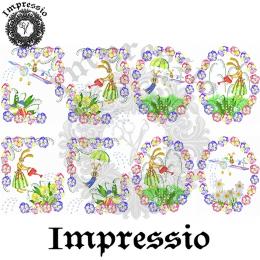 214492. Рисовая декупажная карта Impressio.  25 г/м2