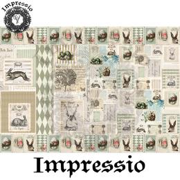 214536. Рисовая декупажная карта Impressio.  25 г/м2