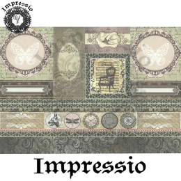 214543. Рисовая декупажная карта Impressio.  25 г/м2