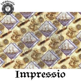 214552. Рисовая декупажная карта Impressio.  25 г/м2