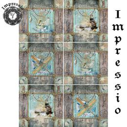 214554. Рисовая декупажная карта Impressio.  25 г/м2