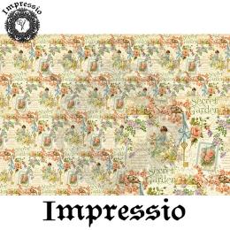 214691. Рисовая декупажная карта Impressio.  25 г/м2