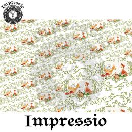 214862. Рисовая декупажная карта Impressio.  25 г/м2