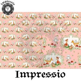 214865. Рисовая декупажная карта Impressio.  25 г/м2