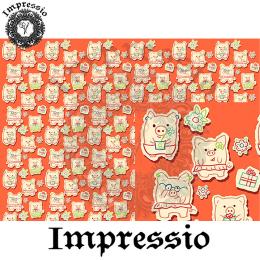 214912. Рисовая декупажная карта Impressio.  25 г/м2
