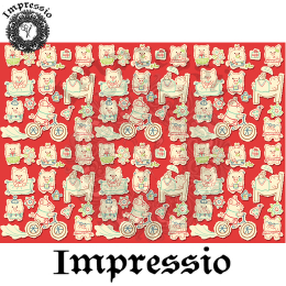 214913. Рисовая декупажная карта Impressio.  25 г/м2