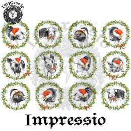 214972. Рисовая декупажная карта Impressio.  25 г/м2
