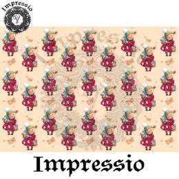 214987. Рисовая декупажная карта Impressio.  25 г/м2