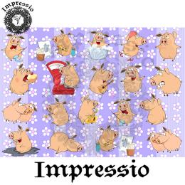 214998. Рисовая декупажная карта Impressio.  25 г/м2