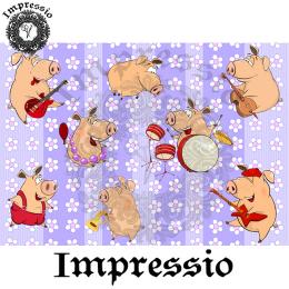 215001. Рисовая декупажная карта Impressio.  25 г/м2