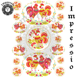215014. Рисовая декупажная карта Impressio.  25 г/м2