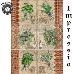 215028. Рисовая декупажная карта Impressio.  25 г/м2