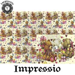 215055. Рисовая декупажная карта Impressio.  25 г/м2