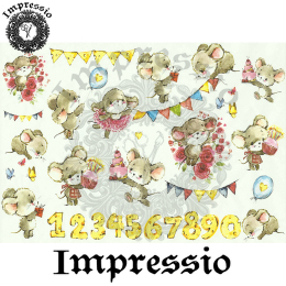 215895. Рисовая декупажная карта Impressio. 25 г/м2