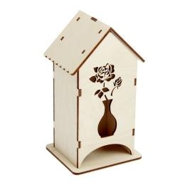 ЧД-11. Чайный домик с розой в вазе, дерево
