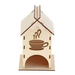 ЧД-23. Чайный домик с чашкой, дерево
