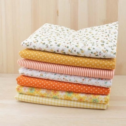 ТК-4. Набор ткани, хлопок, цвет оранжевый. 7 шт.