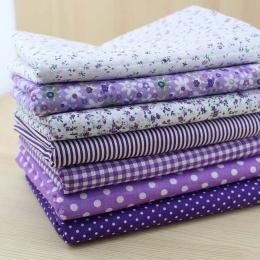 ТК-7. Набор ткани, хлопок, цвет фиолетовый. 7 шт.