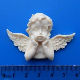 Пл/91. Декор ангел с крыльями, пластик. опт.