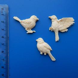 Пл/95. Набор 3 птички, пластик. опт.