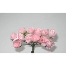 hm-20. Розочки бумажные, бледно-розовые. 12 шт.
