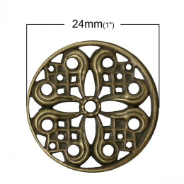 hm-1032. Декоративный элемент круглый. 50 шт., 4 руб/шт