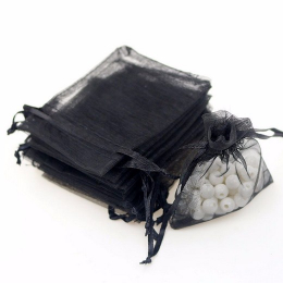 hm-1106. Мешочек из органзы, цвет черный