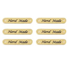 hm-1151. Бирка Hand Made, кожа. 10 шт., 7 руб/шт