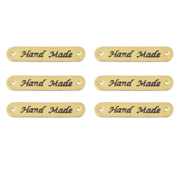 hm-1151. Бирка Hand Made, кожа. 5 шт., 9 руб/шт