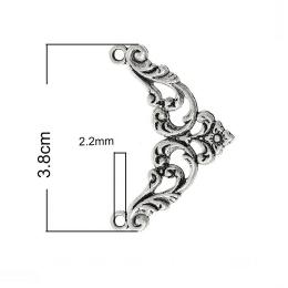 hm-1162. Уголок, цвет серебро. 24 шт., 11 руб/шт