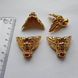 hm-1224. Ножка, цвет золото, пластик, 20 шт., 8 руб/шт