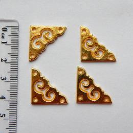hm-1226. Уголок накладной, цвет золото, 12 шт., 10 руб/шт