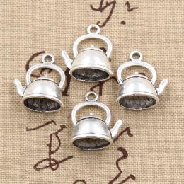 hm-1251. Подвеска Чайник, цвет серебро