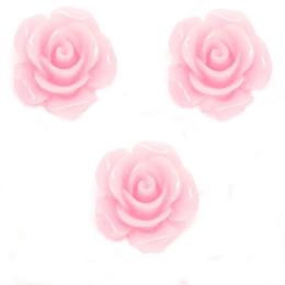 hm-1257. Кабошон Роза, цвет розовый, 10 шт., 6 руб/шт