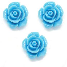 hm-1258. Кабошон Роза, цвет голубой, 20 шт., 5 руб/шт
