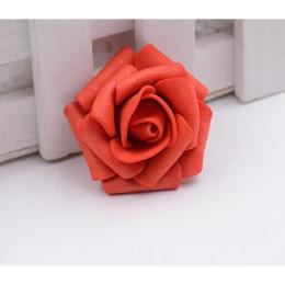 hm-1262. Розочка из фоамирана, красная, 5 шт., 9 руб/шт