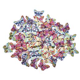 hm-1267. Пуговицы Бабочки, микс, 50 шт., 2,5 руб/шт