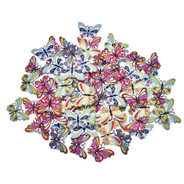 hm-1267. Пуговицы Бабочки, микс, 10 шт., 6 руб/шт