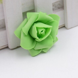 hm-1315. Розочка из фоамирана, зеленая. 20 шт., 6 руб/шт