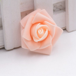 hm-1318. Розочка из фоамирана, абрикосовая