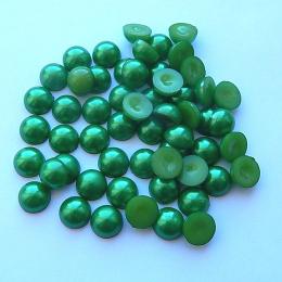 hm-1333. Полубусины, зеленые, 50 шт., 2 руб/шт