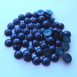 hm-1335. Полубусины, темно-синие, 10 шт., 4 руб/шт