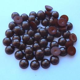 hm-1336. Полубусины, коричневые. 50 шт., 1.5 руб/шт