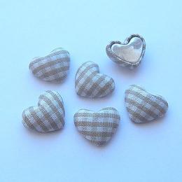 hm-1346. Декор Сердечки в клеточку, бежевые, 5 шт.,9 руб/шт