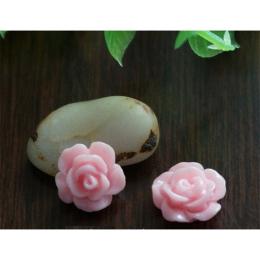 hm-1356. Кабошон Роза, цвет светло-розовый. 10 шт., 5 руб/шт