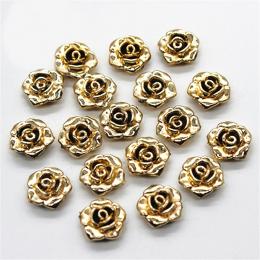 hm-1360. Кабошон Роза, цвет золото. 10 шт., 7 руб/шт