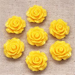 hm-1363. Кабошон Роза, цвет желтый. 20 шт.,  14 руб/шт