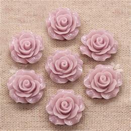 hm-1364. Кабошон Роза, цвет сиреневый. 20 шт., 16 руб/шт